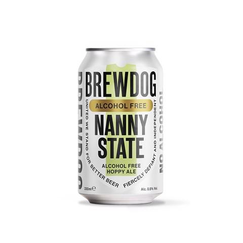 Brewdog Nanny State 0,5% blik tray 6x4x0,33L