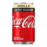 Coca-Cola Zero Vanilla blik tray 4x6x0,33L