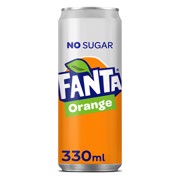 Fanta Zero Orange blik     tray 24x0,33L