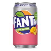 Fanta Zero Peach      blik tray 12x0,33L