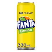 Fanta Zero Lemon blik      tray 24x0,33L