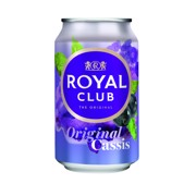 Royal Club Cassis blik     tray 24x0,33L