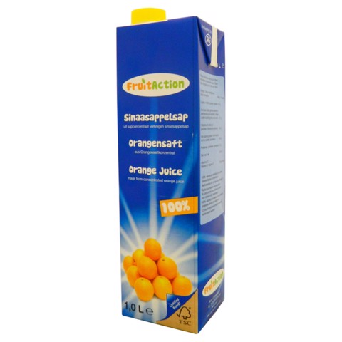 Fruit Action Sinaasappelsap pak doos 6x1,00L