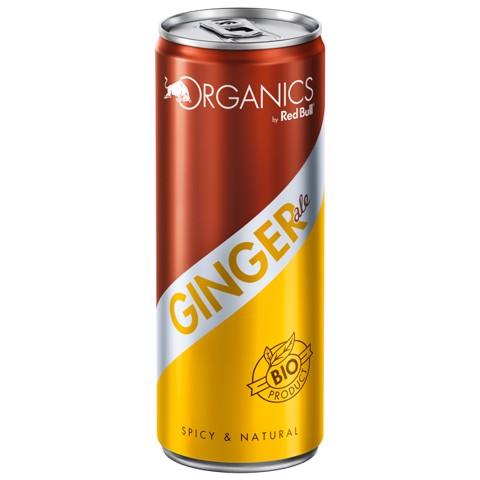 Red Bull Organics Ginger Ale blik  tray 12x0,25L