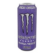 Monster Energy Violet blik tray 12x0,50L
