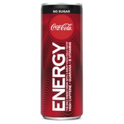 Coca-Cola Energy No Sugar blik tray 12x0,25L