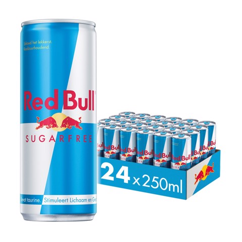 Red Bull Energy Sugarfree blik tray 24x0,25L