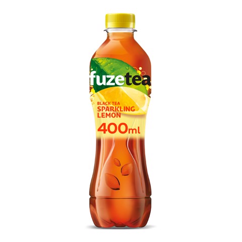 Fuze Tea Black Sparkling Lemon PET tray 12x0,40L