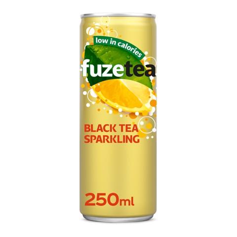 Fuze Tea Black Sparkling Lemon blik tray 24x0,25L