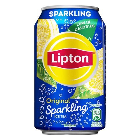 Lipton Ice Tea Sparkling blik tray 24x0,33L