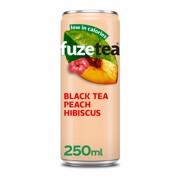 Fuze Tea Black Peach Hibiscus blik tray 24x0,25L