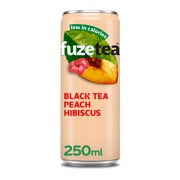 Fuze Tea Black Peach Hibiscus blik tray 24x0,25L