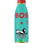 BOS Ice Tea Lime & Ginger PET tray 6x0,50L