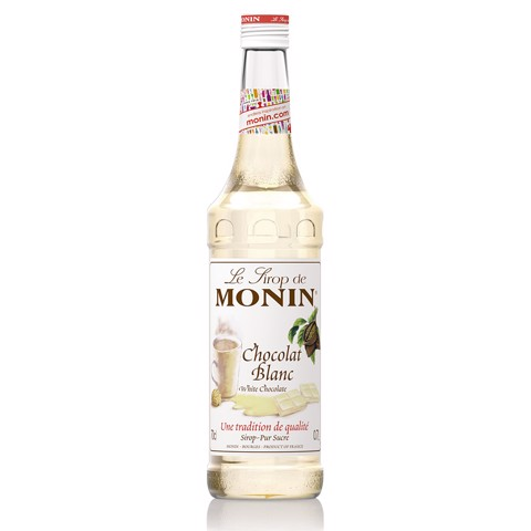 Monin Siroop White Chocolate  fles 0,70L