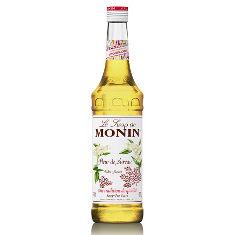 Monin Siroop Elderflower      fles 0,70L