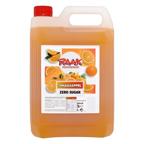 Raak Vruchtensiroop Sinaasappel Zero can 5,00L