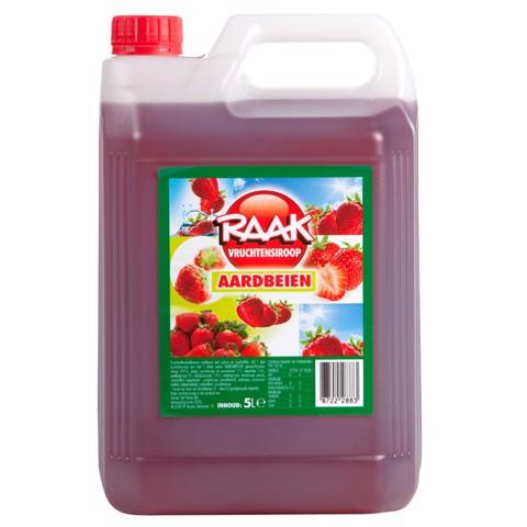 Raak Vruchtensiroop Aardbei    can 5,00L