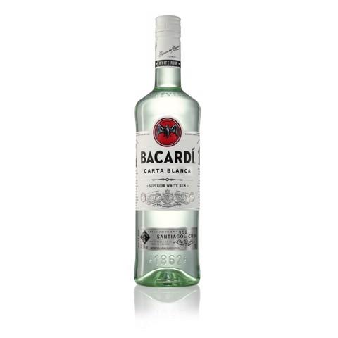 Bacardi Carta Blanca Rum         fles 1,00L