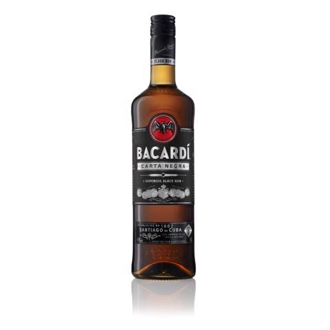 Bacardi Carta Negra Rum          fles 1,00L