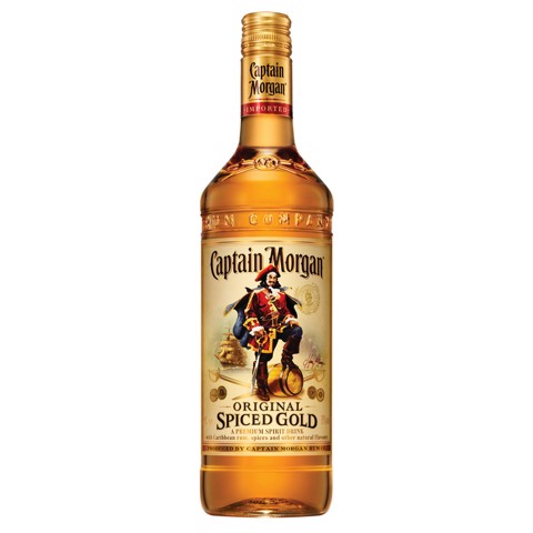 Captain Morgan Spiced Gold Rum   fles 1,00L