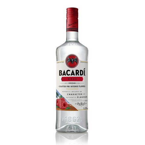 Bacardi Razz Rum              fles 1,00L