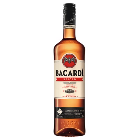 Bacardi Spiced Rum           fles 1,00L