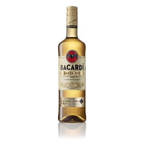 Bacardi Carta Oro Rum            fles 1,00L