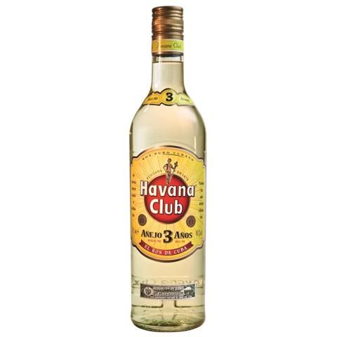 Havana Club White Rum 3 YO   fles 1,00L