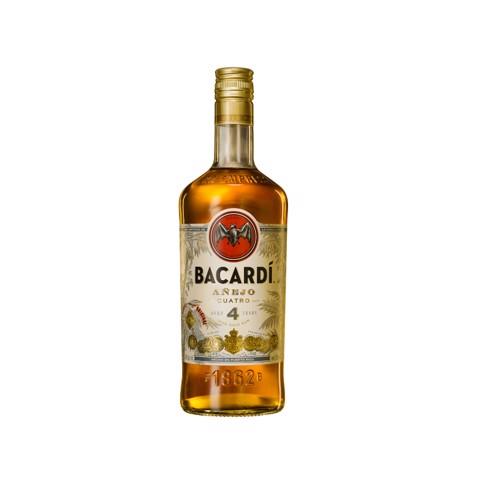 Bacardi Anejo Cuatro Rum      fles 0,70L