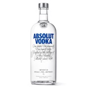 Absolut Blue Vodka            fles 1,00L