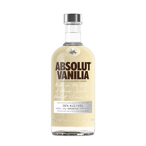 Absolut Vanilla Vodka         fles 0,70L