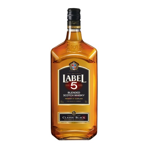 Label 5 Scotch Whisky         fles 1,00L