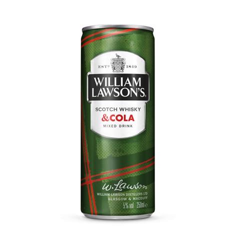 William Lawson's Whisky & Cola blik tray 24x0,25L