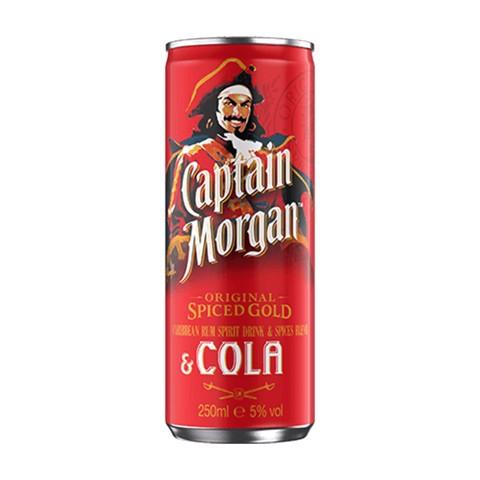 Captain Morgan Rum & Cola blik tray 12x0,25L