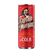 Captain Morgan Rum & Cola blik tray 12x0,25L