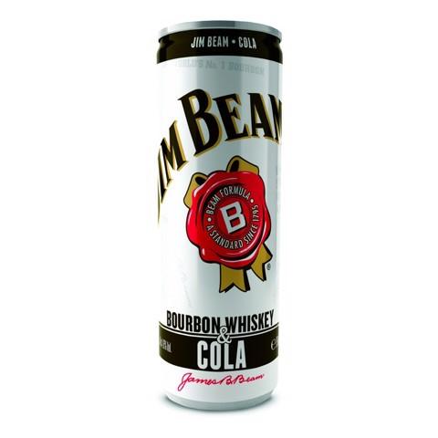 Jim Beam Whiskey & Cola blik       tray 12x0,33L