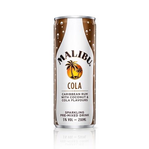 Malibu & Cola blik         tray 12x0,25L