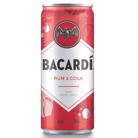 Bacardi Rum & Cola blik        tray 24x0,25L