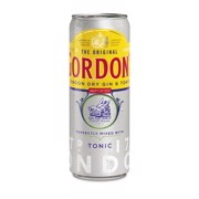 Gordon's Gin & Tonic blik  tray 12x0,25L