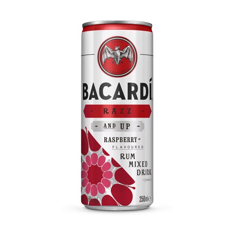 Bacardi Razz & Up blik     tray 12x0,25L