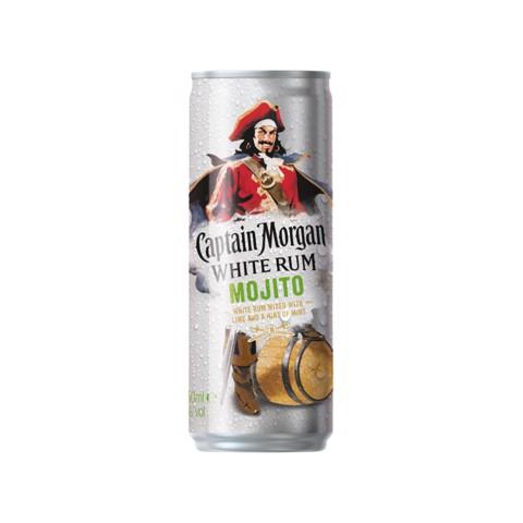Captain Morgan White Mojito blik tray 12x0,25L