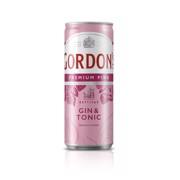 Gordon's Pink Gin & Tonic blik tray 12x0,25L