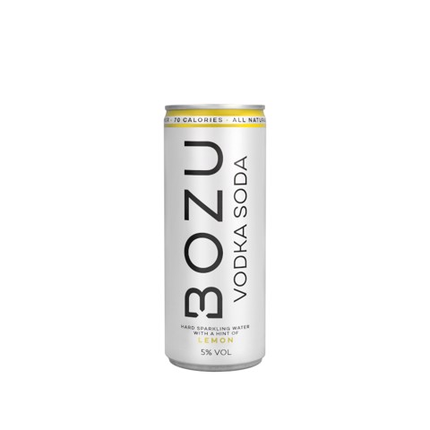 Bozu Lemon Vodka Soda Hard Seltzer blik tray 12x0,25L