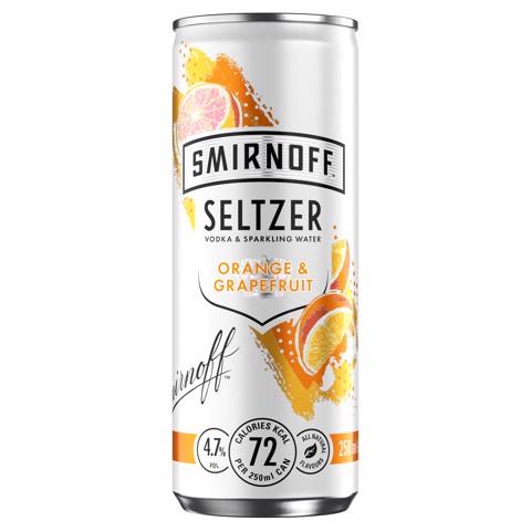 Smirnoff Hard Seltzer Orange & Grapefruit tray 12x0,25L