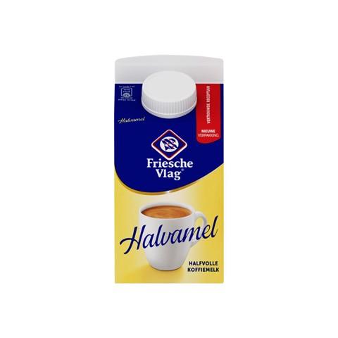 Friesche Vlag Halvamel Koffiemelk pak tray 18x455ml