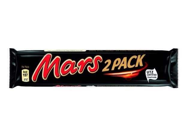 Mars 2-pack                 doos 24x70gr