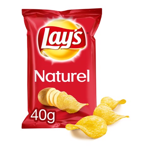 Lays Chips Naturel          doos 20x40gr