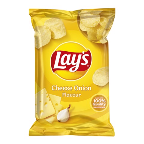 Lays Chips Cheese Onion     doos 20x40gr