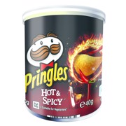 Pringles Hot en Spicy       doos 12x40gr