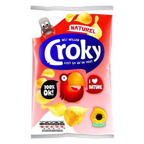 Croky Chips Naturel         doos 20x40gr